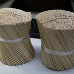特別製作「竹ひご」 検査試料をピックアップ