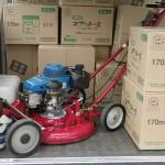 エンジン芝刈り機の修理