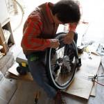 子供用24インチ自転車の前後タイヤ交換